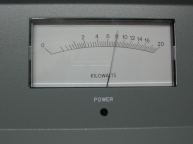 This power meter isn't in my shack, it's a harris DX10!